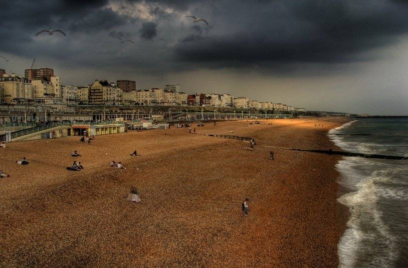 Pebble beach in Brighton