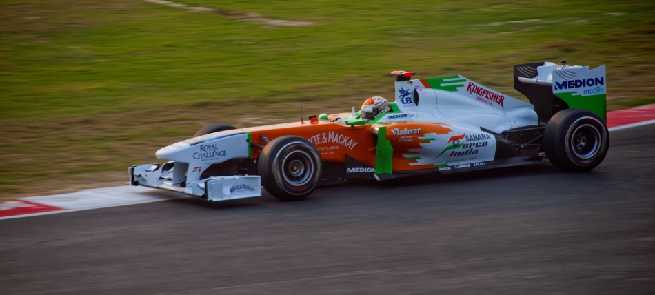 Team Force India performing at Indian Grand Prix